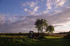 El paraíso rural foto de archivo