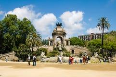 El Parc de la Ciutadella Barcelona Foto de archivo