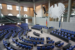 El parlamento alemán de Reichstag foto de archivo libre de regalías