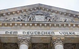El parlamento alemán, edificio de Reichstag en Berlín, Alemania Imagen de archivo