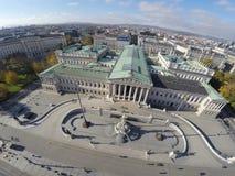 El parlamento austríaco en Viena imagen de archivo