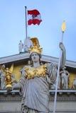 El parlamento austríaco en Viena, Austria Imagen de archivo libre de regalías