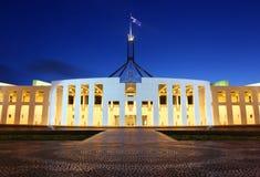 El parlamento australiano contiene en Canberra Foto de archivo