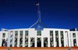El parlamento australiano en Canberra Imágenes de archivo libres de regalías
