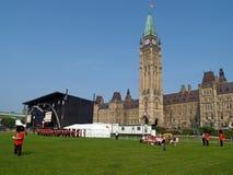 El parlamento canadiense en Ottawa Foto de archivo