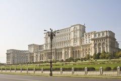 El parlamento Casa-Bucarest, Rumania Fotografía de archivo
