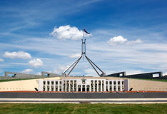 El parlamento contiene Canberra Imagenes de archivo