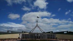 El parlamento contiene, Canberra Australia almacen de metraje de vídeo