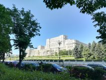 El parlamento contiene en Bucarest Fotos de archivo