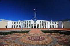 El parlamento contiene en Canberra, Australia imágenes de archivo libres de regalías