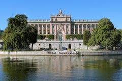 El parlamento contiene en Estocolmo, Suecia Fotos de archivo