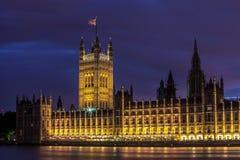 El parlamento contiene en la ciudad de Westminster Fotografía de archivo libre de regalías