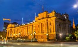 El parlamento contiene en Melbourne, Australia Foto de archivo libre de regalías