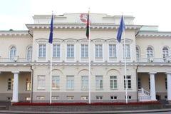 El parlamento contiene en Vilna, Lituania Foto de archivo
