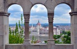 El parlamento de Budapest Imagen de archivo libre de regalías