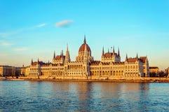 El parlamento de Budapest Fotos de archivo