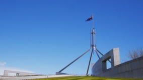 El parlamento de la bandera contiene Australia almacen de metraje de vídeo