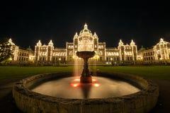 El parlamento de la Columbia Británica, Canadá Imagen de archivo libre de regalías