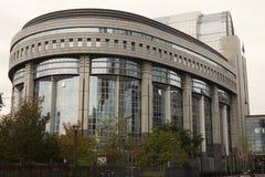 El parlamento de la unión europea en Bruselas en Bélgica Fotos de archivo libres de regalías
