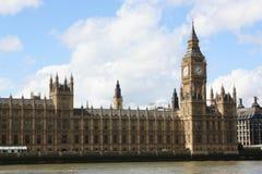 El parlamento de Londres, Ben grande Imágenes de archivo libres de regalías