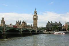 El parlamento de Londres y Ben grande Foto de archivo