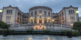 El parlamento de Noruega Fotografía de archivo libre de regalías