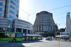 El parlamento de NZ en la ciudad de Wellington Foto de archivo libre de regalías