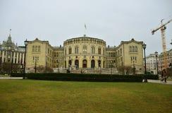 El parlamento de Oslo Fotos de archivo