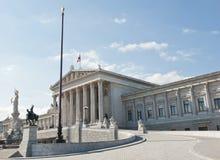 El parlamento de Viena Foto de archivo libre de regalías