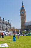 El parlamento del campo de la paz ajusta Foto de archivo