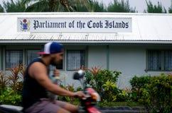 El parlamento del cocinero Islands en Rarotonga cocina a Islands Fotografía de archivo