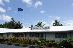 El parlamento del cocinero Islands en Rarotonga cocina a Islands Imagenes de archivo