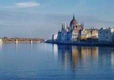 El parlamento en Budapest Imagen de archivo