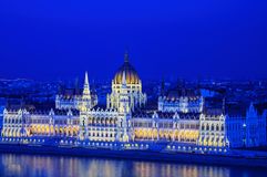 El parlamento en Budapest foto de archivo libre de regalías