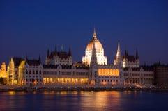 El parlamento en Budapest Imágenes de archivo libres de regalías