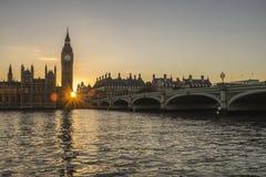 El parlamento en la puesta del sol Fotografía de archivo