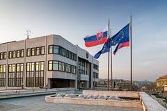 El parlamento eslovaco Foto de archivo