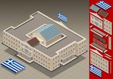 El parlamento griego isométrico Imagen de archivo libre de regalías