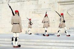 El parlamento guarda en el uniforme, Grecia Imágenes de archivo libres de regalías