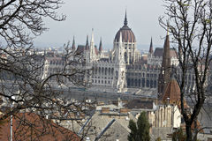 El parlamento húngaro. Imagen de archivo