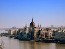 El parlamento húngaro foto de archivo