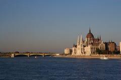 El parlamento húngaro en Budapest Foto de archivo