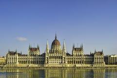 El parlamento húngaro en Budapest Imagenes de archivo
