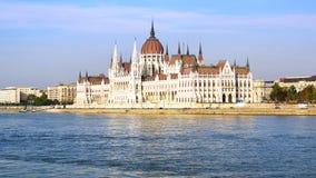 El parlamento húngaro en Budapest, Hungría Foto de archivo libre de regalías
