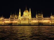 El parlamento húngaro que construye vista delantera Imagen de archivo libre de regalías
