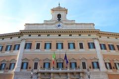 El parlamento italiano Foto de archivo libre de regalías