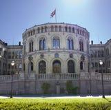 El parlamento noruego en Oslo Foto de archivo