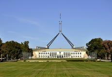 El parlamento que construye Canberra Imagen de archivo libre de regalías
