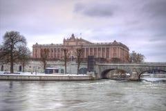 El parlamento sueco - Riksdag en HDR Fotografía de archivo libre de regalías
