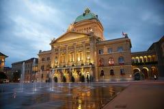 El parlamento suizo Fotografía de archivo libre de regalías